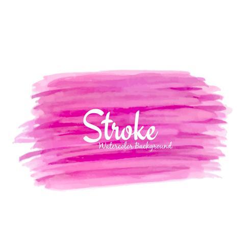 Ilustração de fundo abstrato rosa aquarela design vetor