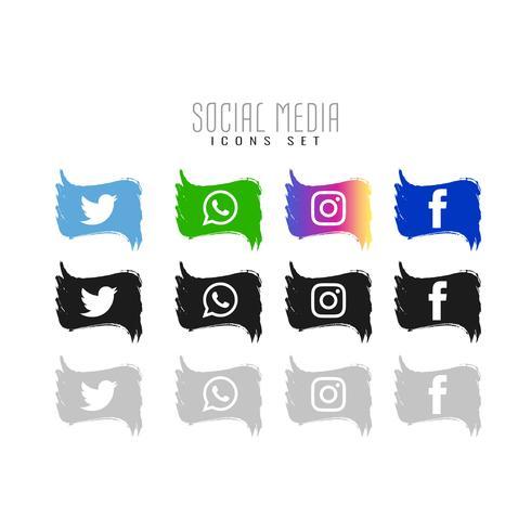 Abstract Social media icons set