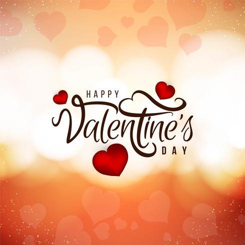 Beautiful Happy Valentine's Day love background