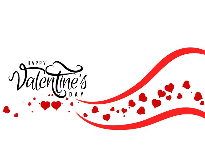 Happy Valentine's Day beautiful card background