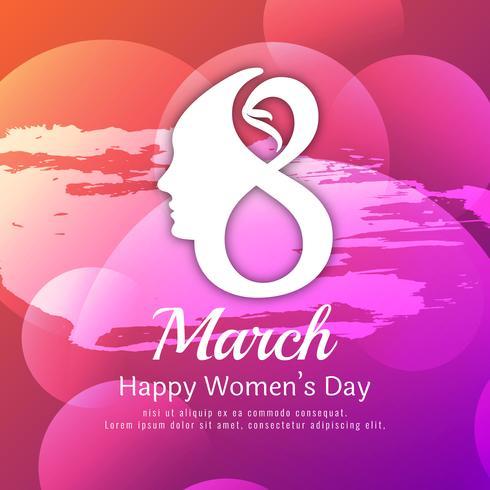 Abstract Happy Women's Day kleurrijke aquarel achtergrondontwerp