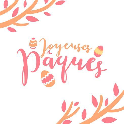Joyeuses Pâques Typografie