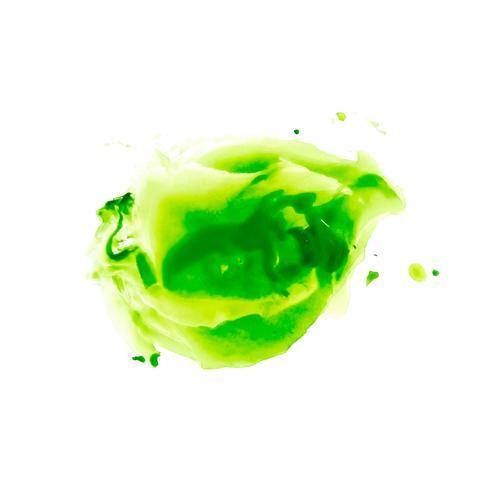 Fondo colorido abstracto de la mancha del verde de la acuarela vector