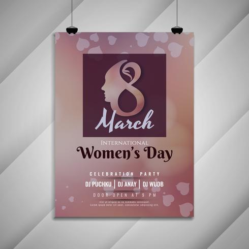 Plantilla de tarjeta de invitación fiesta celebración día de las mujeres elegantes abstractas