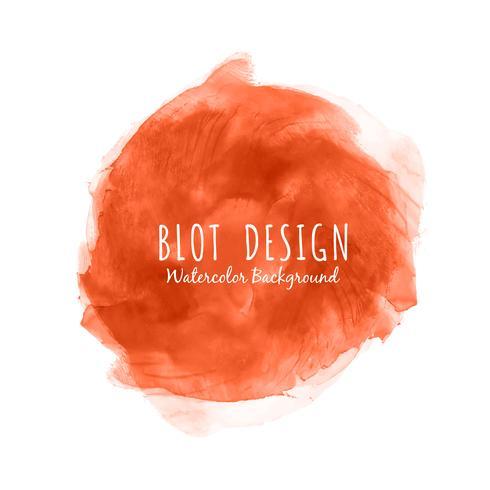 Fondo de diseño blot acuarela abstracta roja