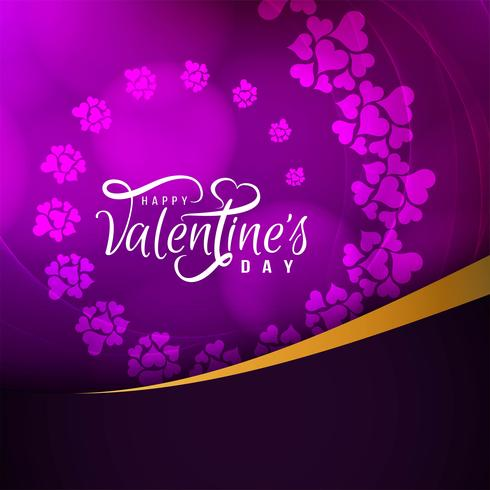 Abstract Happy Valentine's day beautiful card design