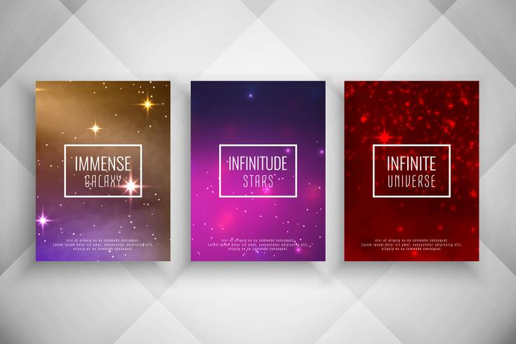 Abstract galaxy style brochure template set