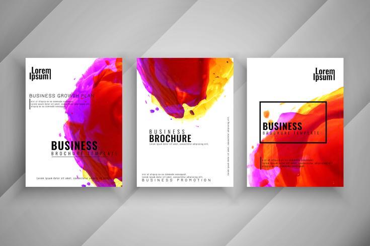 Abstracte zakelijke brochure ontwerpset