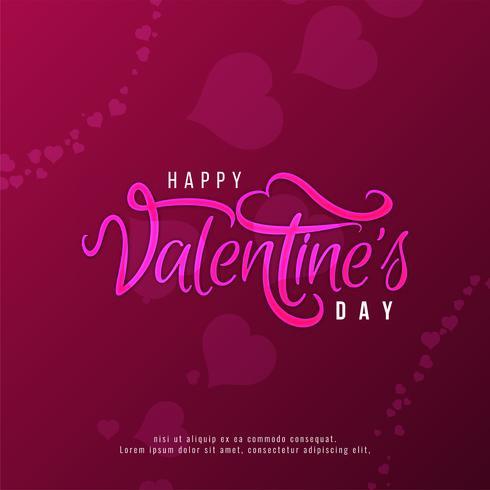 Glücklicher Valentinstag-Textdesignhintergrund