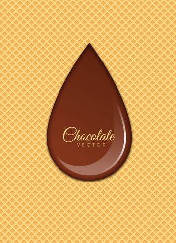 Liquid Chocolate or Brown Paint. Vector illustration.