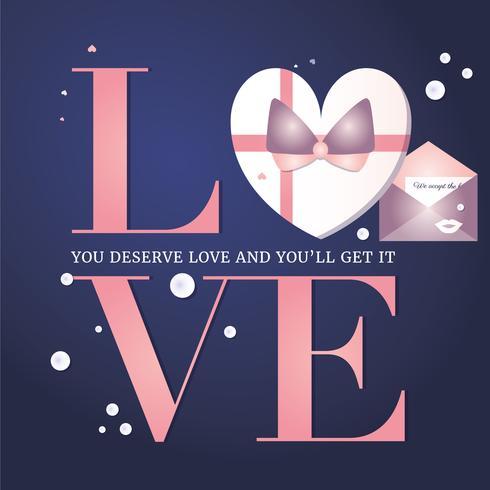 Cartolina d'auguri di San Valentino di vettore