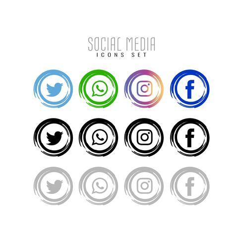Abstrakt sociala medier ikoner uppsättning