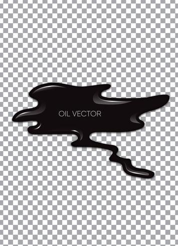 Óleo preto realista isolado em fundo transparente. Ilustração vetorial vetor