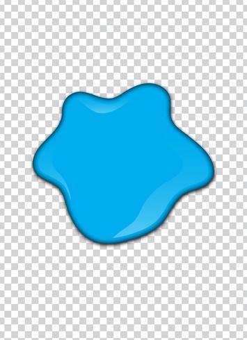 Salpicadura de pintura azul con fondo de transparencia. Ilustracion vectorial