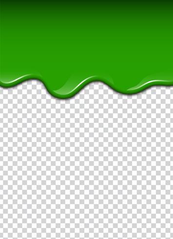 Groene vloeistof, spatten en vlekken. Slijm vectorillustratie.