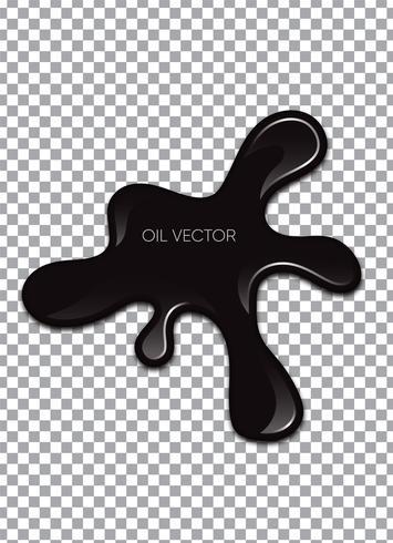 Olio nero realistico isolato su sfondo trasparente. Illustrazione vettoriale