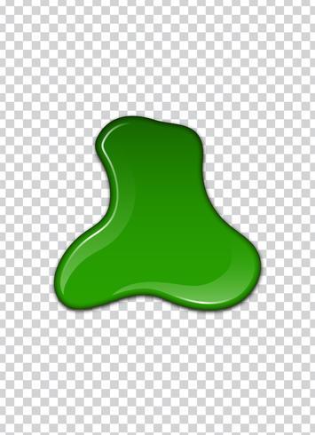 Liquido verde, schizzi e macchie. Illustrazione vettoriale melma.