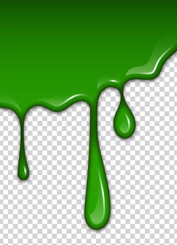 Grön vätska, stänk och fläckar. Slime vektor illustration.
