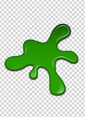 Green liquid, splashes and smudges. Slime vector illustration.