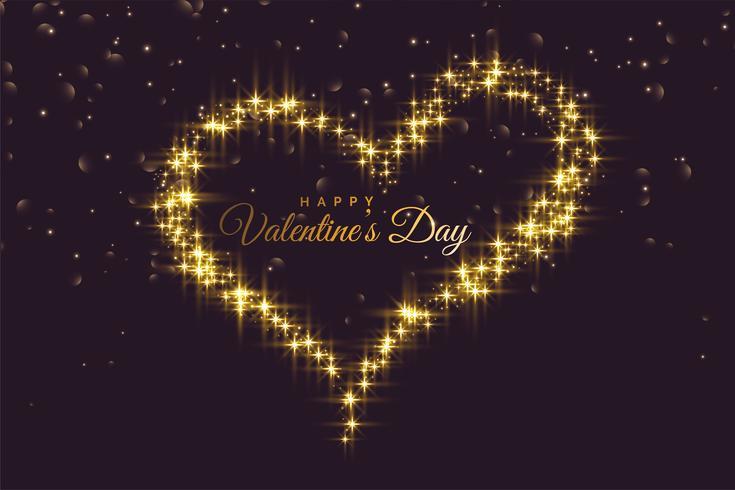 cuore creativo realizzato con scintillii San Valentino sfondo