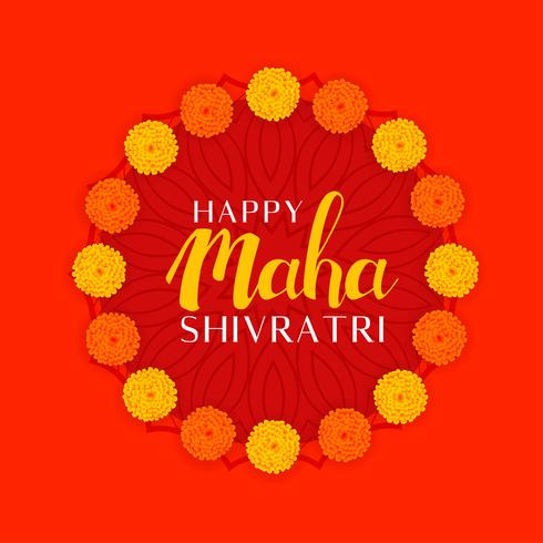 Hindu Maha Shivratri-festivalen av Lord Shiva med blomsterdekoration