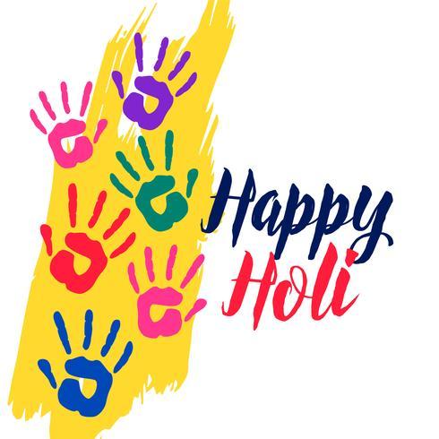 färgglada händer glad holi firande bakgrund