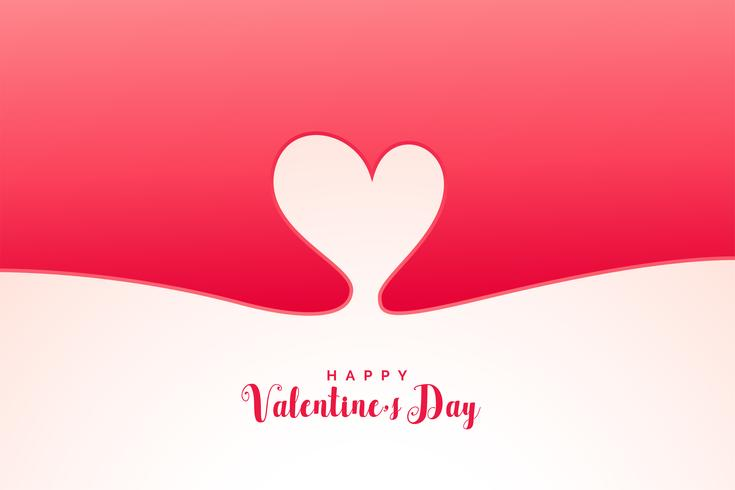 minimale hartachtergrond voor valentijnskaartendag