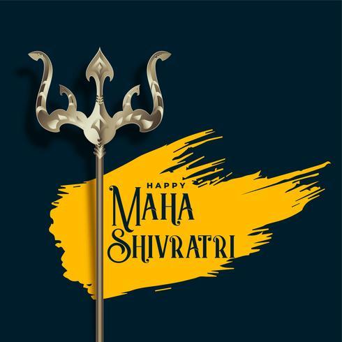 Ilustración trishul para el festival shivratri