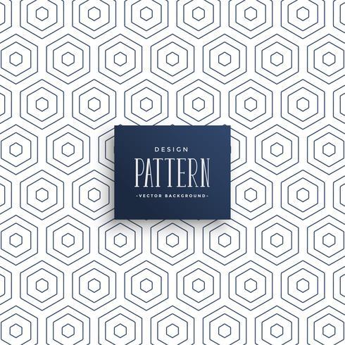 sottili linee esagonali pattern di sfondo