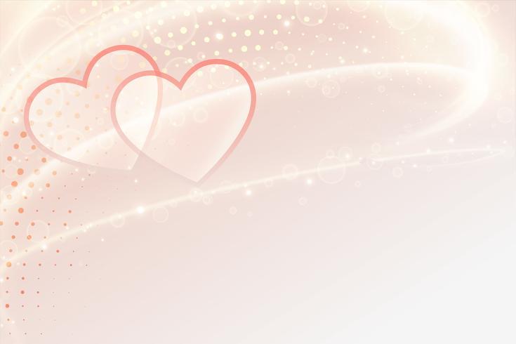 Banner de corazones hermosos con espacio de texto para el día de San Valentín