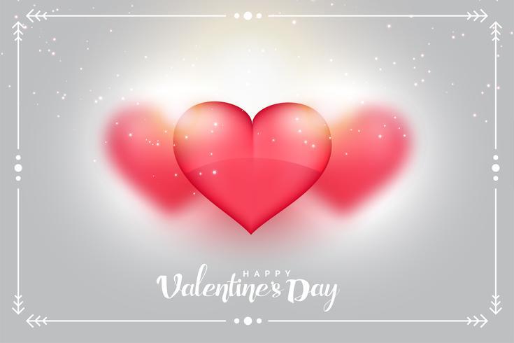 härliga hjärtan bakgrund för valentines dag