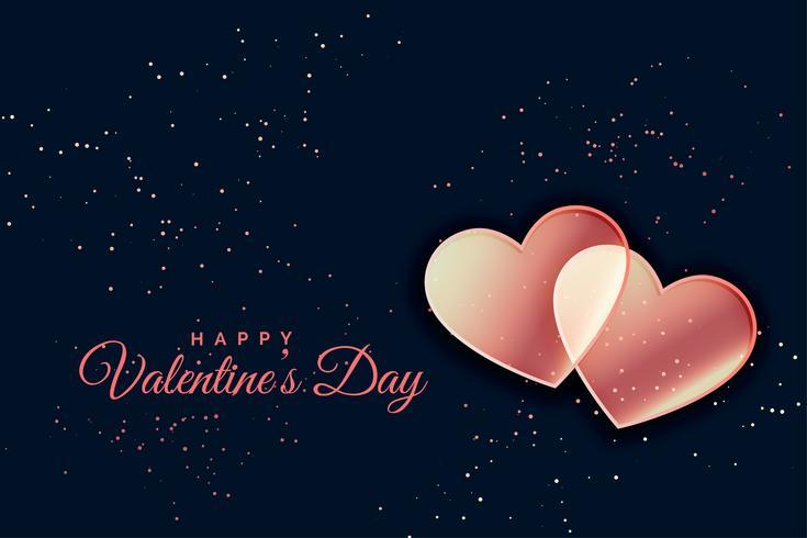 Fondo de corazones románticos para el día de San Valentín