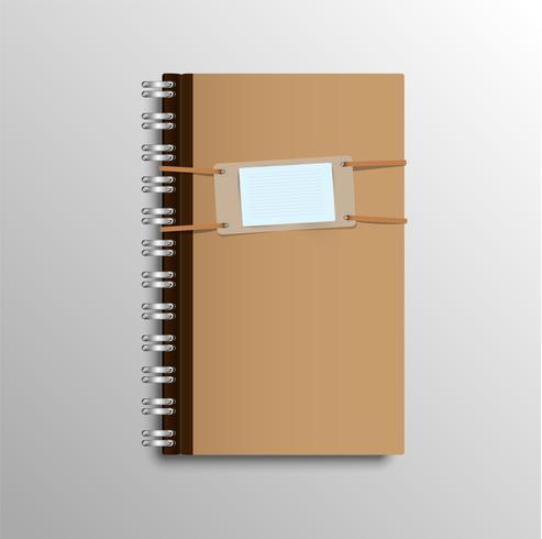 Realistisk anteckningsbok, vektor illustration