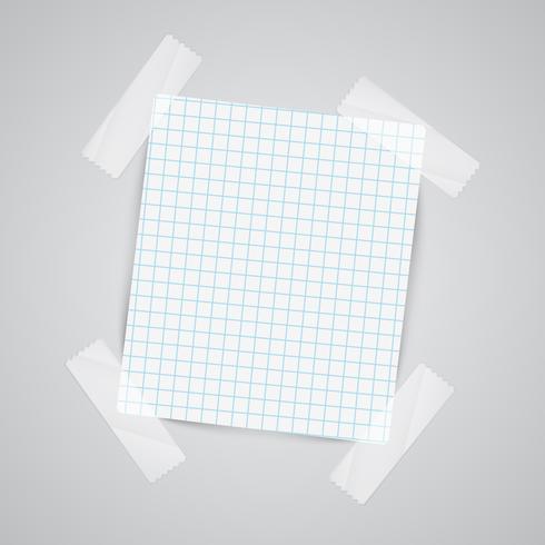 Notes de papier avec du scotch, vector