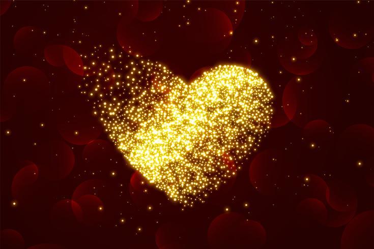 sfondo di cuori di particelle lucide per San Valentino