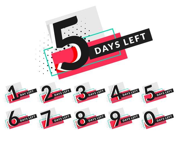 stijlvolle dagen countdown timer ontwerp
