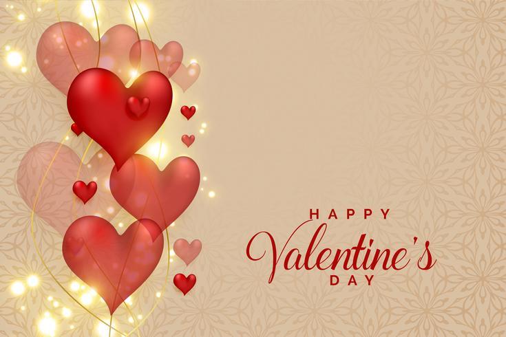 abstrakte Herzen 3d auf dem Glühen funkelt für Valentinstag