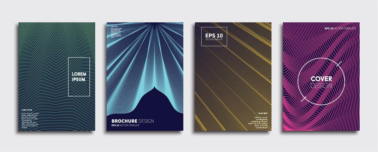 Minimal vektor täckdesign. Framtida affischmall