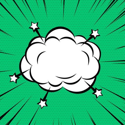Nube cómica o humo en el fondo de las líneas de zoom