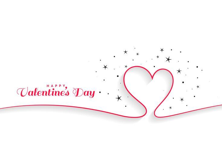 minimal linje hjärtan valentines dag bakgrund