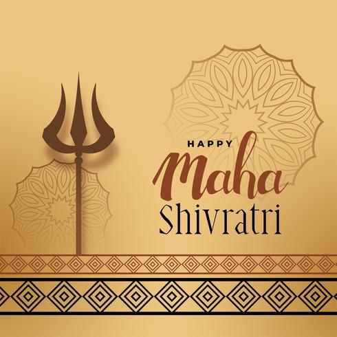 Festivalgruß für Maha Shivratri mit Trishul