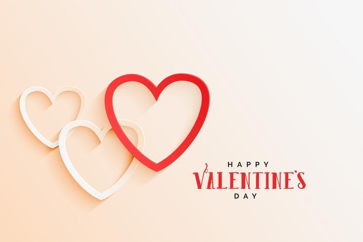 schöne Linie Herzen elegant Valentinstag Hintergrund