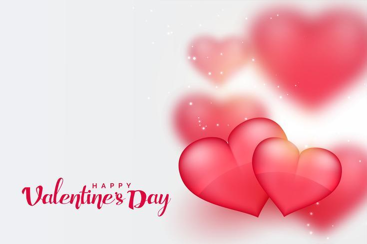 Fondo de día de San Valentín de corazones hermosos 3d rosa