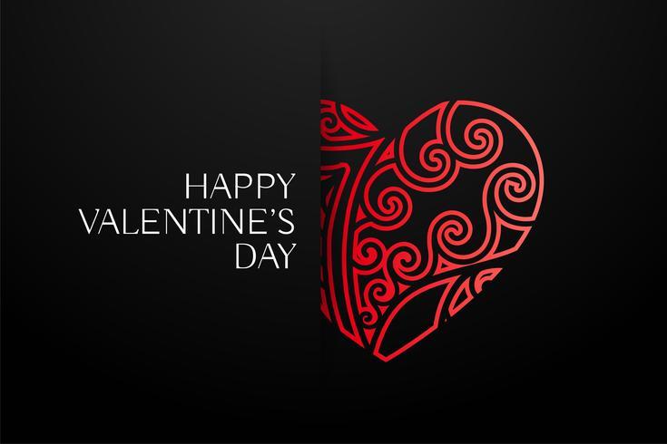 Fondo de corazones decorativos rojo elegante