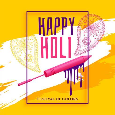 kreativer glücklicher holi Festivalgrußhintergrund
