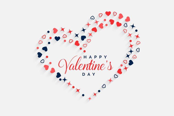 Happy Valentines Day dekorative Herzen Hintergrund
