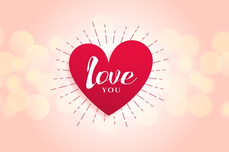 vacker kärlek hjärta bakgrundsdesign