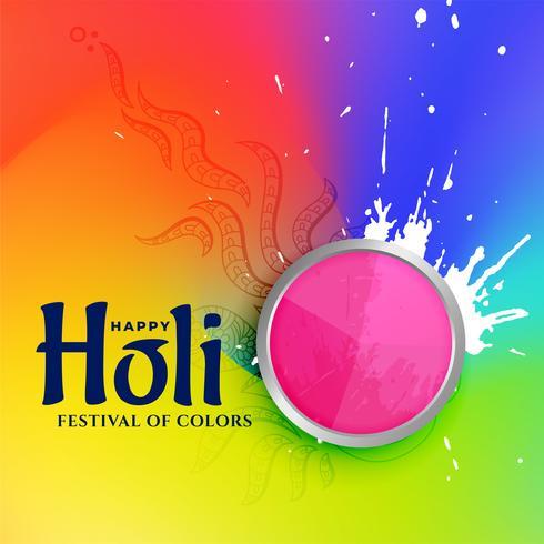 illustrazione colorata di felice holi festival di colori