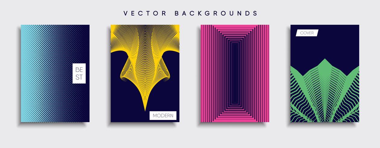 Diseños de portadas de vectores mínimos. Plantilla de cartel futuro