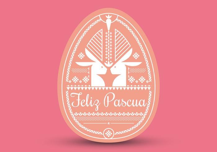 Tipografia Feliz Pascua. Sfondo di Pasqua. Buona Pasqua.